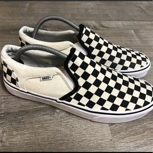 Vans Old Skool Classic Slip On Checkered Shoes